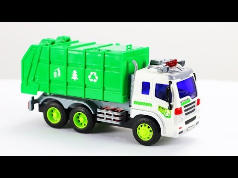 Garbage truck videos for children - Garbage truck toys part 1