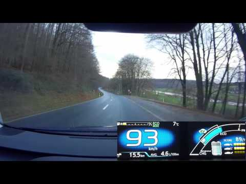 Prius 4 Fuel Consumption Test In Bad Weather And Hilly Terrain