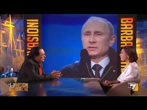 Le Invasioni Barbariche – Albano Carrisi: 'Il grande Putin ha seminato democrazia in Russia'