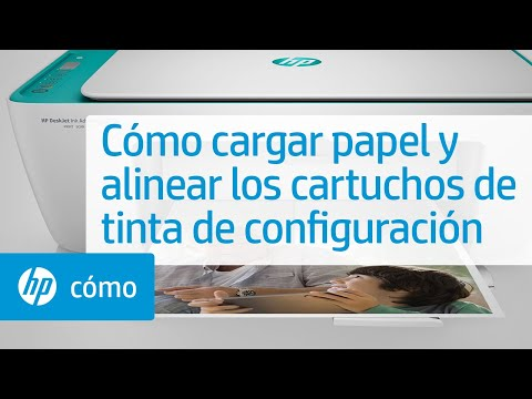 Cómo cargar papel y alinear los cartuchos de tinta de configuración | HP Printers | @HPSupport