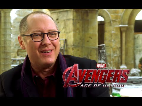 James Spader Interview - Avengers: Age of Ultron (2015) Marvel Movie