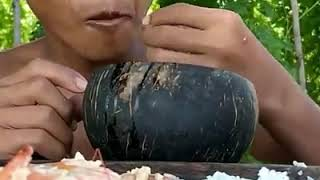 Yummy Cooking Shrimp and Egg in Watermelon Recipe!