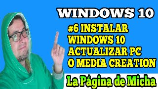 actualizar su pc ahora o crear un medio de instalación (Media Creation Tool) windows 10