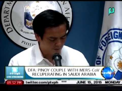 NewsLife: DFA: Pinoy couple with MERS-CoV recuperating in Saudi Arabia || Jun. 15, 2015