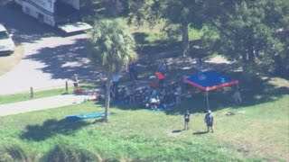 Crews rescue two trapped manatees rescued from retention pond in Oldsmar