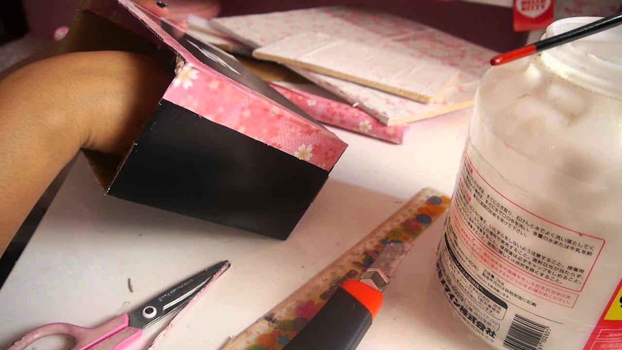 Manualidades organizador con caja de zapato - Manualidades con cajas ...