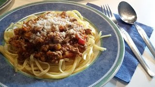 Обед за 20 минут Спагетти под соусом Болоньезе Рецепты с Термомикс TМ5 TМ31