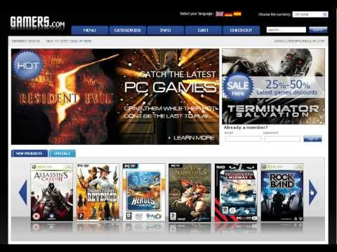 0 Gamers Store osCommerce template