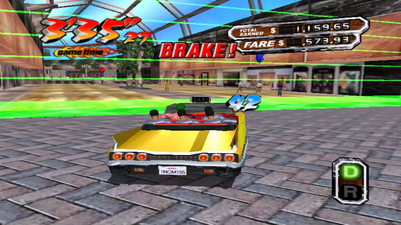 Old Game Crazy Taxi 3