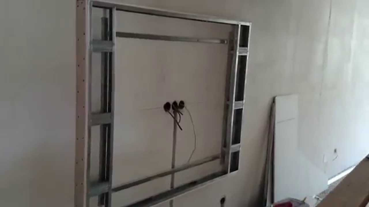 Гипсокартон в интерьере стена