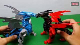 Robot transformer biến hình rồng đen cánh đỏ Dinobot Dragon toy for kid - đồ chời trẻ em