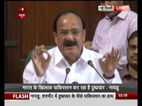 I&B Minister M Venkaiah Naidu addresses media on Kashmir issue