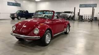 Clean and Solid 1973 Volkswagen Beetle Convertible.  Restored.
