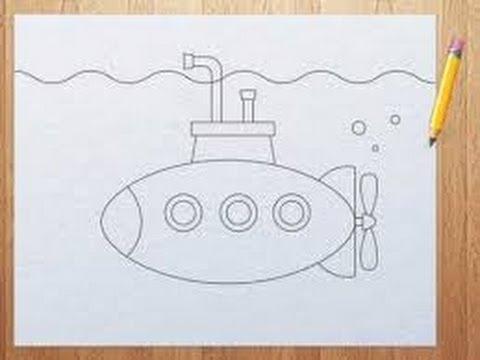 как нарисовать краской лодку