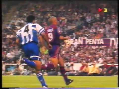 Ronaldo vs Rivaldo. FC Barcelona vs Deportivo. Año 1997