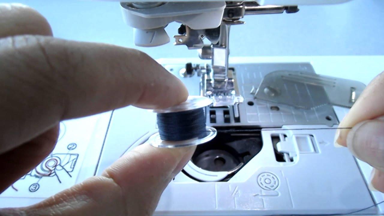 Como poner el carrete en la bobina de la maquina de coser for Como echar gotele sin maquina