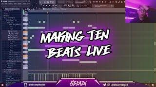 Making 10 Beats Live ( FL Studio 11 ) 11/16