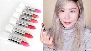 LANEIGE NEW SILK INTENSE LIPSTICKS - REVIEW + UNBOXING + SWATCHES!