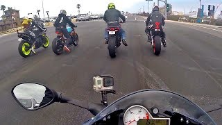 GROUP RIDE: APRILIA RSVR, YAMAHA R1, BMW S1000RR, HONDA REPSOL, TRIUMPH & MORE!!