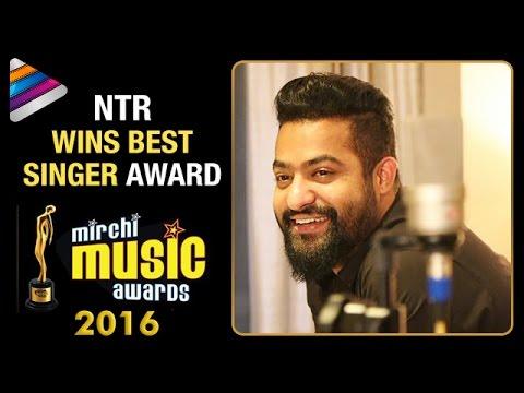 Jr NTR Wins Best Singer Award | Jr NTR Bags 2 Awards at Mirchi Music Awards 2016 | Telugu Filmnagar