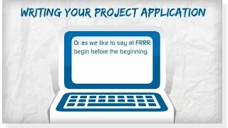 #3 - Writing your Project Application