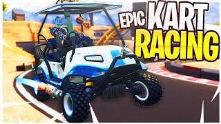 EPIC Kart Racing in Fortnite! iTemp Vs. Ali-A 1v1 ATK Racing!