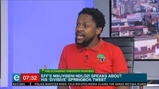 Mbuyiseni Ndlozi speaks about his 'divisive' #Springbok tweet