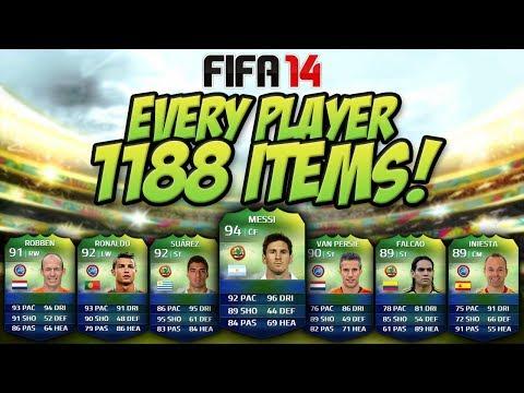 All 1188 Items Club Tour - FIFA 14 World Cup Ft. Messi, Ronaldo & Every iMOTM!