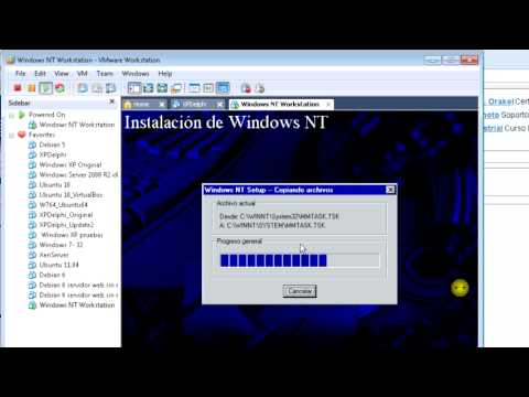 Instalar Windows NT 4 Workstation virtualizado en VMware Workstation