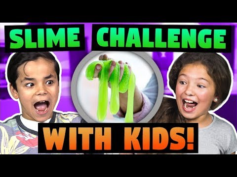 KIDS VS ADULTS Slime Challenge!