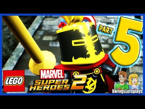 Lego Marvel Super Heroes 2 - Walkthrough Part 5 Castle Hassle Sir Percy