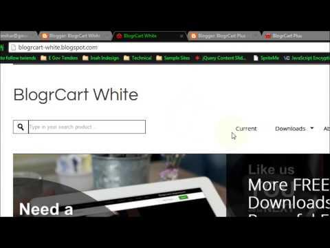 Edit/Set Mobile Menu Navigation for BlogrCart Blogger Templates