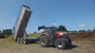 Ensilage au tas d'ensilage optum 270 + 24 tonne brochard