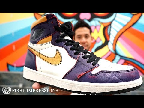 See How The Nike SB x Air Jordan 1 'LA To Chicago' Dunks Skate   First Impressions