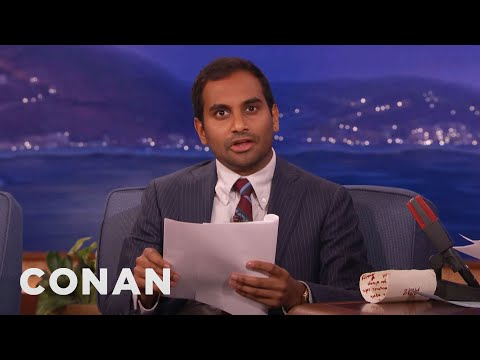 Aziz Ansari's Twitter Screenplay  - CONAN on TBS