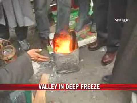 Harsh winter without snow in Kashmir
