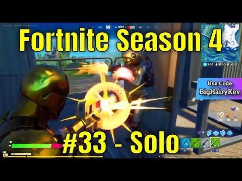 Fortnite Season 4 #33 - Solo
