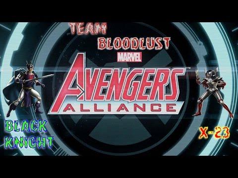 Marvel Avengers Alliance : Team X-23 And Black Knight ... X 23 Marvel Avengers Alliance