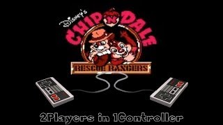 Chip & Dale [NES] Playthrough 2Players on 1Controller