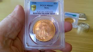 Pre-33 GOLD Saint Gaudens $20 Double  Eagles added to the stack
