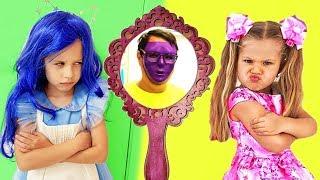 Valentina e Like Nastya Kids, Diana Show no espelho mágico