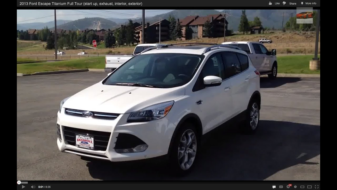 2013 ford escape titanium full tour start up exhaust interior exterior youtube. Black Bedroom Furniture Sets. Home Design Ideas