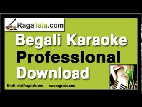 Akash eto meghla - Bengali Karaoke - Satinath Mukherjee