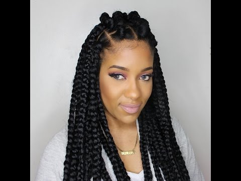 Crochet Box Braids Rubberband Method : How To Style Your Box Braids! 6 Amazing [EASY!] Styles For Box Braids ...