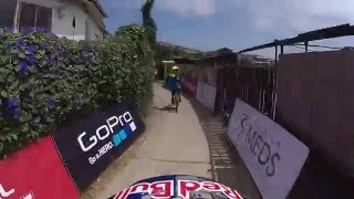 1st Citydownhill race in CHILE  Red Bull Valparaiso Cerro Abajo Track preview POV Polcster following