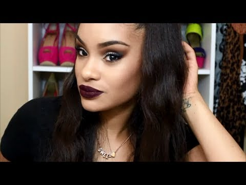 Get Ready With Me -  Fall Smokey Eye & Dark Lips (start to finish makeup)
