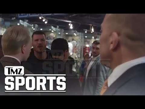 GSP vs. Bisping: Threats, Cussing, Insults In Backstage Standoff   TMZ Sports