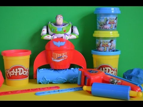 Play-Doh Toy Story 3 Play-doh Play Set Creations Play Dough Fun Disney Buzz lightyear AMAZING !!
