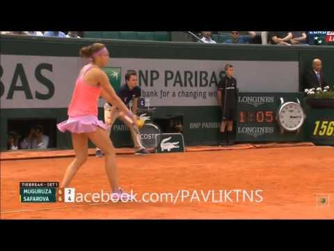 Lucie Safarova vs Garbine Muguruza - French Open 2015 Tennis Match Highlights