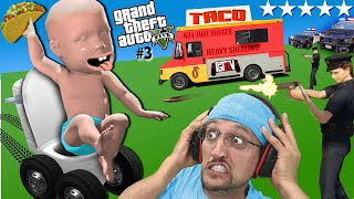 GRAND THEFT AUTO 5 has the worst TACO TRUCKS!  FGTeeVs Very Odd Day! (with Mods)